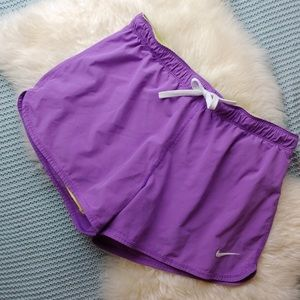 Purple Nike Athletic Shorts with Roll Waist
